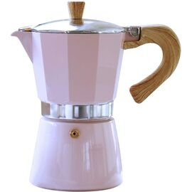 Gnali&Zani Venezia Гейзерная кофеварка на 6 чашек розовая, фото
