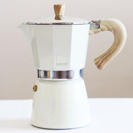 Gnali&Zani Venezia Гейзерная кофеварка на 6 чашек кремовая, фото