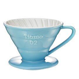 Керамический пуровер Tiamo V02 голубая, фото