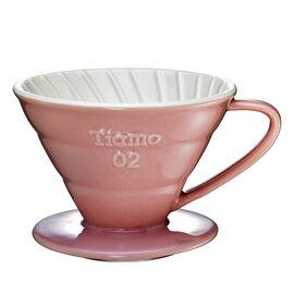 Керамический пуровер Tiamo V02 розовый, фото