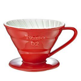 Керамический пуровер Tiamo V02 красный, фото