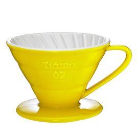 Керамический пуровер Tiamo V02 желтый, фото