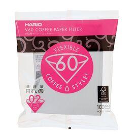 Hario V60 02 Бумажные фильтры белые 100 шт., фото