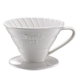 Керамический пуровер Tiamo V02 белый, фото