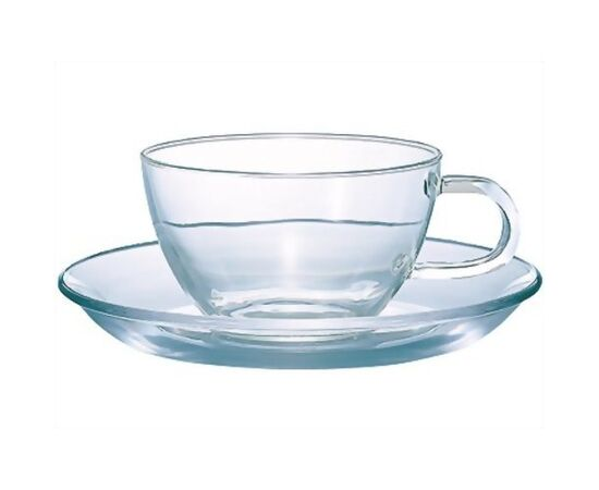 Чашка с блюдцем Hario Premium All Glass TCSN-1T