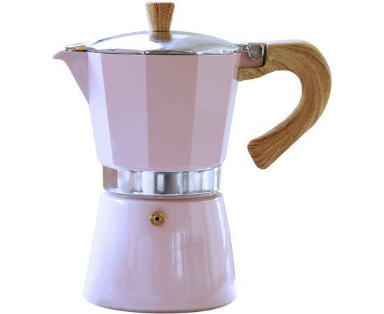 Gnali&Zani Venezia Гейзерная кофеварка на 3 чашки розовая, фото