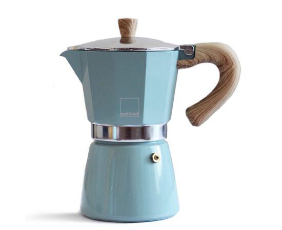Gnali&Zani Venezia Гейзерная кофеварка на 6 чашек голубая, фото