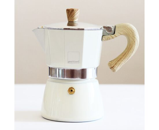 Gnali&Zani Venezia Гейзерная кофеварка на 3 чашки кремовая, фото