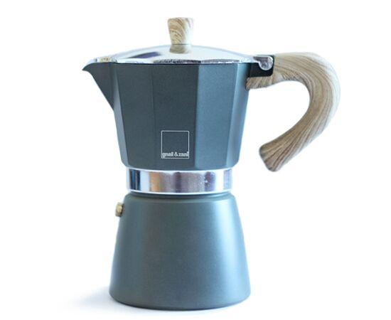Gnali&Zani Venezia Гейзерная кофеварка на 3 чашки серая, фото