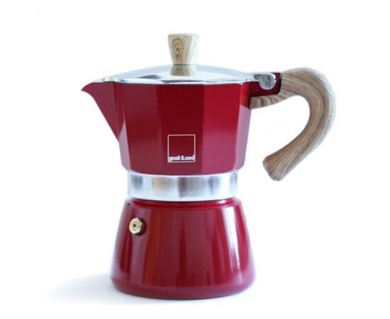 Gnali&Zani Venezia Гейзерная кофеварка на 3 чашки красная, фото