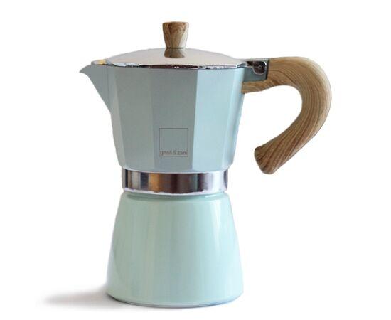 Gnali&Zani Venezia Гейзерная кофеварка на 9 чашек зелёная, фото