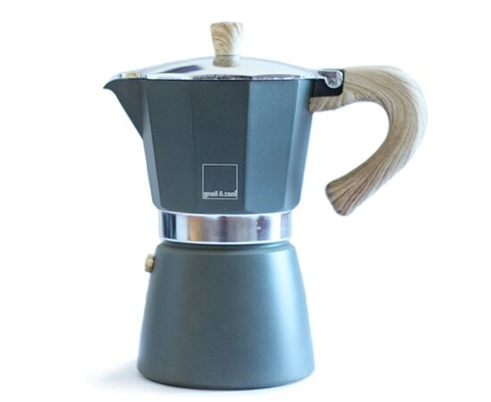 Gnali&Zani Venezia Гейзерная кофеварка на 9 чашек серая, фото