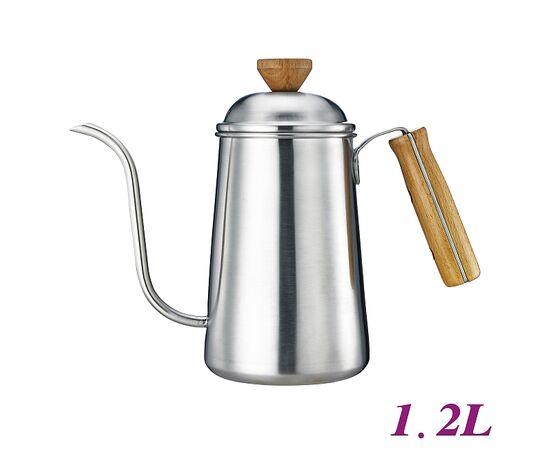 Tiamo HA1654 Чайник 1.2 л c деревянной ручкой, фото