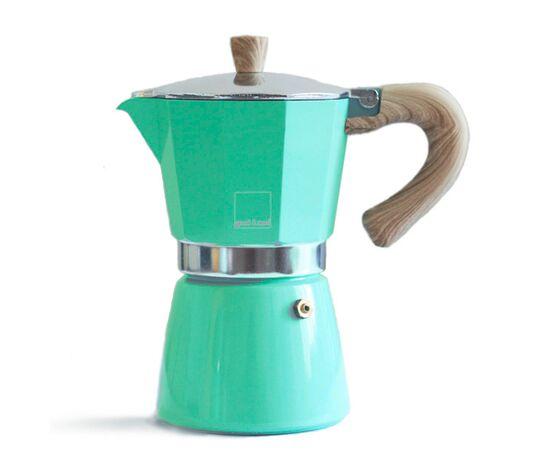 Gnali&Zani Venezia Гейзерная кофеварка на 9 чашек ярко-зеленая, фото