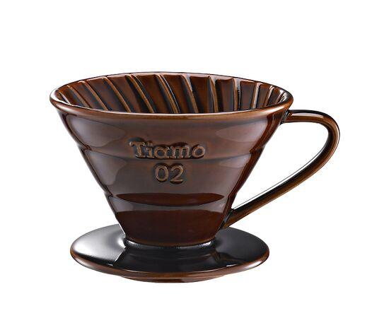 Tiamo HG5538BR Керамический пуровер V02 коричневый, фото